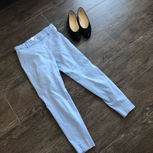 BABY blue cropped high waisted pants